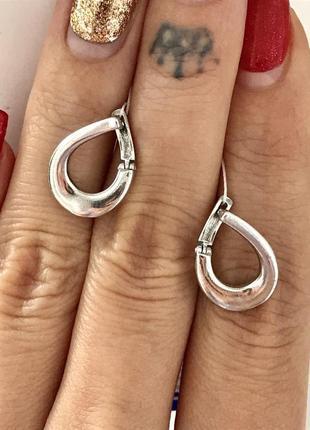 Серьги серебро 925 пробы элла сережки 2576