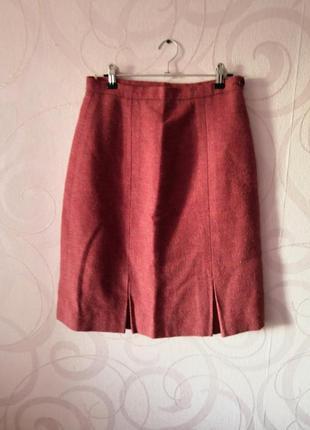 Шерстяная юбка, винтаж, ретро, юбка на осень, классическая юбка, винтажная юбка