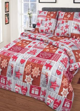Сувенир - новогоднее постельное белье (бязь, 100 хлопок)