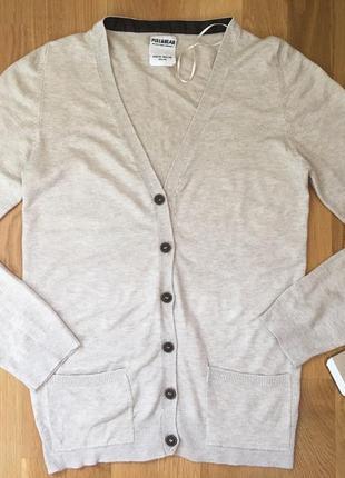 Кардиган pull&bear кофта накидка свитшот джемпер на пуговицах