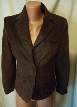 Пиджак с латками на рукавах
