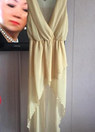 Платье с запахом шифон