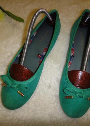 Tommy нilfiger мягкие туфли балетки из замша р. 36 (23см) оригинал новые