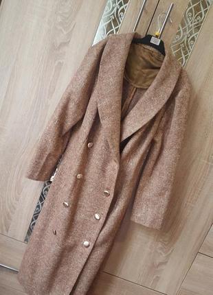 Трендовое теплое миди платье-пиджак