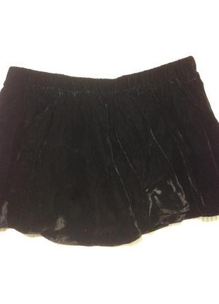 Бархатная юбка для танцев