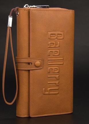 Baellerry guero - мужское бизнес портмоне, клатч ( светло-коричневый )