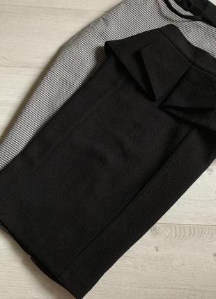 Плотная чёрная юбка миди miss selfridge