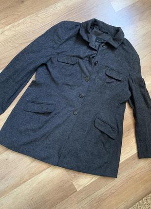 Оригинал bogner мягкое серое пальто куртка пиджак