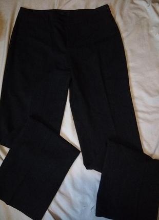 Осенние брюки в ёлочку в составе шерсть