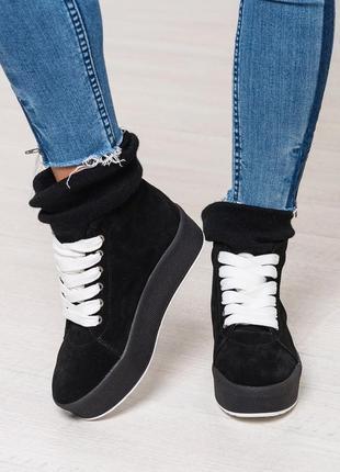 Акция! стильные зимние женские кеды / ботинки. размеры 36,37,38,39,40,41