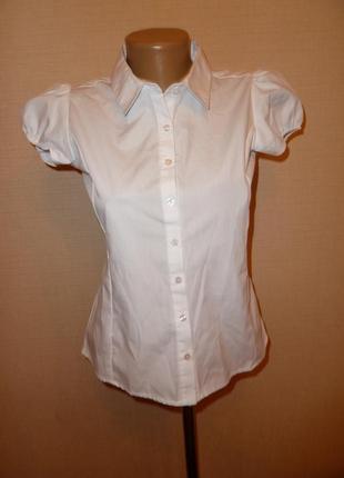 Белая школьная рубашка, блузка george на 12-13 лет рост 152-158 см