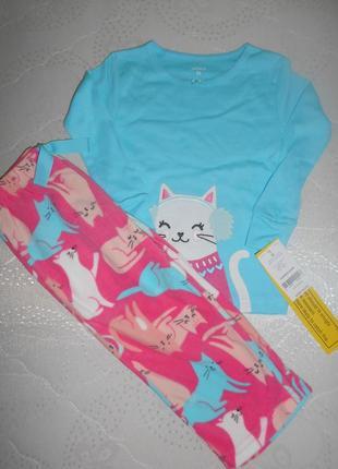 Пижама флисовая   хлопок carters 2т/88-93 см