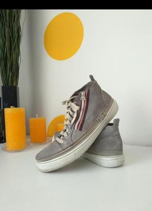 Замш натур. кроссовки кеды мокасины слипоны ботинки