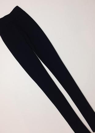 Чёрные узкие леггинсы плотные лосины amisu s