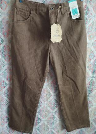 Капри джинсовые джинсы высокая посадка