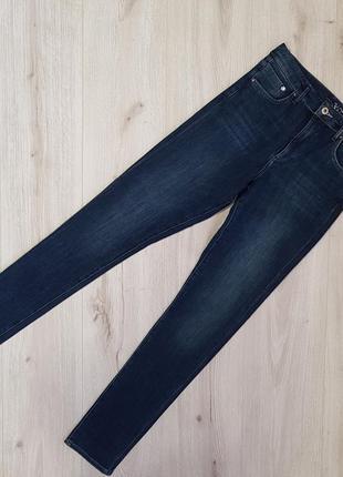 Темно-синие джинсы h&m 360 shaping 30размер