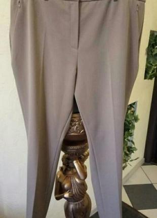 Брендовые укороченные,зауженые брюки батал 52-54 р