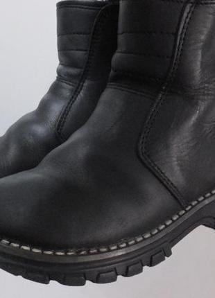 Теплые легкие зимние сапожки кожаные сапоги на цигейке worker kids раз.24, ст. 15 см