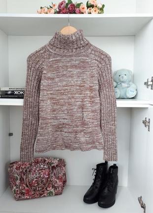 S/44 вязаный свитер меланж высокое горло saix 121653