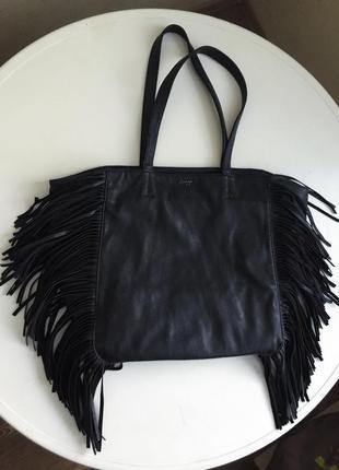 Черная сумка, искусственная кожа