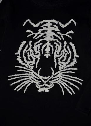 М - l очень теплая фирменная женская туника платье с тигром на флисе2 фото