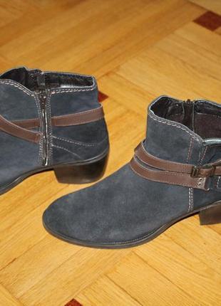 Ботинки натуральный замш стелька 26,5 см