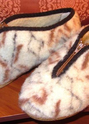 Тапочки adanex ( польша ) из натуральной овчины