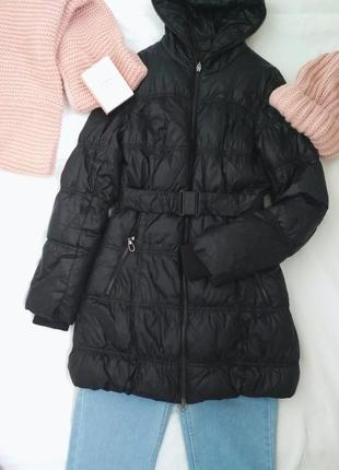 Пуховик colin's на худенькую девушку / зима / наполнитель пух / съемный ремень
