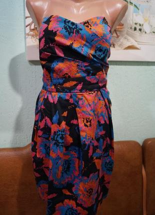 Платье бюсте р.14,бренд new look