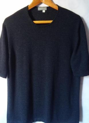 Mazzonetto!  шерстяной джемпер короткий рукав 100% мериносовая шерсть 20-22р.