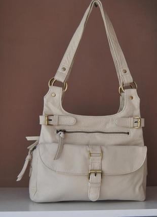 Кожаная сумка f&f / шкіряна сумка