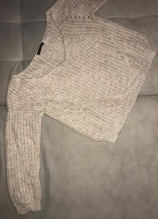 Бежевый oversized свитер