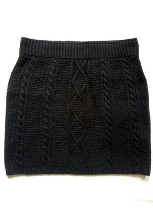 Стильная теплая юбочка с актуальным узором!