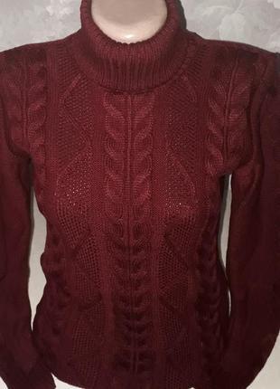 Красивый.теплый свитер .фабричная вязка.