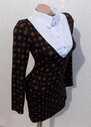 Платье обманка с воротником размер 42-44