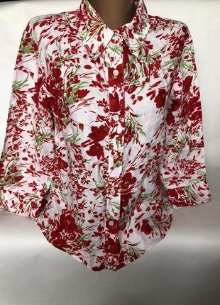 Шикарная льняная рубашка