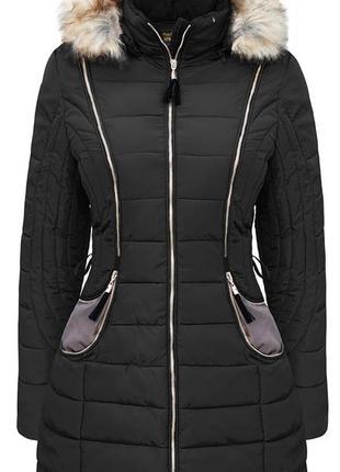 Длинная зимняя куртка пуховик на холлофайбере тм hikis