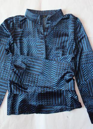 Блуза в японском стиле кимоно, с интересным поясом от piena, италия