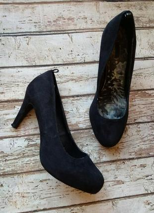 Туфли, текстиль под замшу