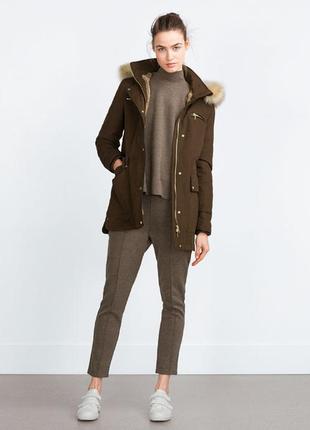 Zara. зимняя парка/куртка на меху . 36р. s