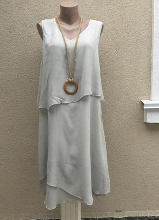 Платье,сарафан многослойное,воланы,ассиметрия,ретро стиль,вискоза,италия