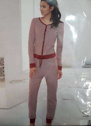 Домашний женский комбинезон, пижама слип человечек skin to skin германия