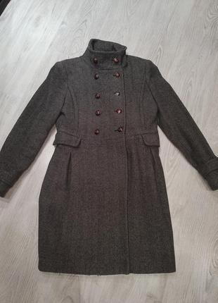 Пальто,пальто шерсть,серое пальто