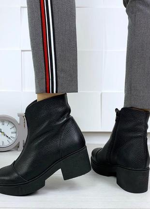 36-41 рр деми/зима ботинки, ботильоны в стиле diezzzl. натуральная кожа/замша