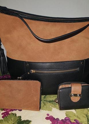 Натуральная замшевая сумка parfois