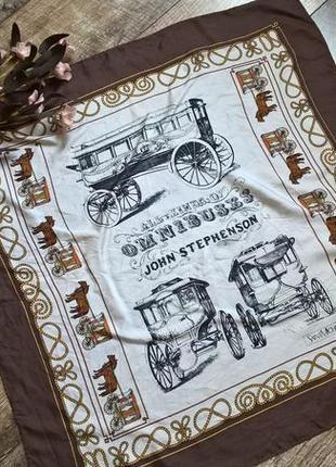 Винтажный колекционный подписной шелковый платок от saint michel