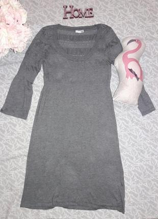 Платье h&m серое теплое