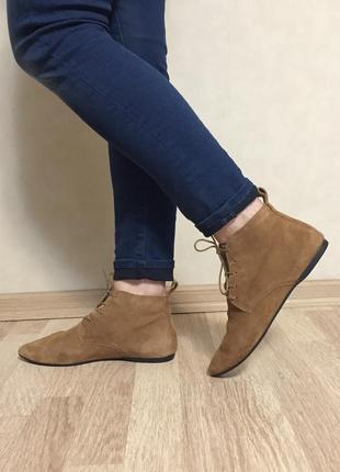 Ботинки замшевые vagabond 37 размер