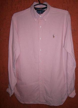 Hежно розовая рубашка с цветной лошадью ralph lauren