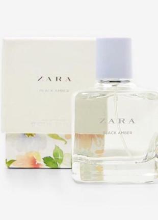 Zara black amber 100ml limited! супер цена! густой, стойкий аромат! оригинал, испания!